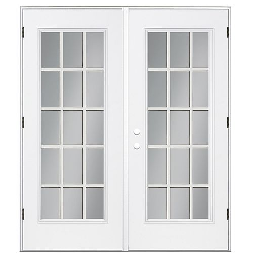 6 ft. Full 15-Lite Internal Grille Low-E / Argon Right Hand Outswing Patio Door
