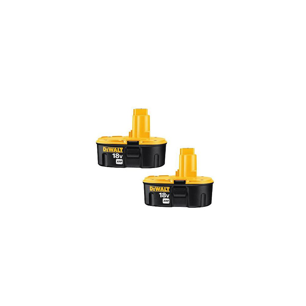 DEWALT 18V xRP NiCd Extended Runtime Pack 2.4 Ah Battery (2-Pack)