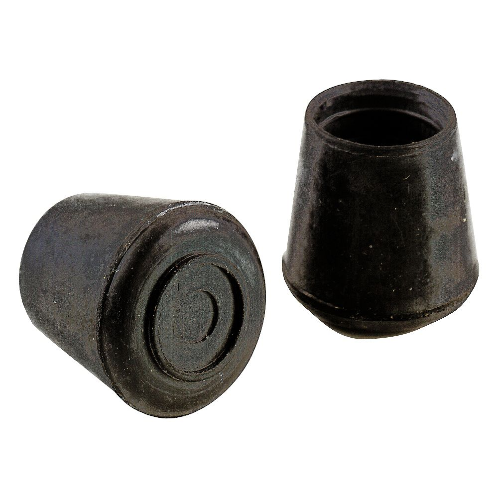 Everbilt 7/8-inch Black Rubber Leg Tips (4 per Pack)