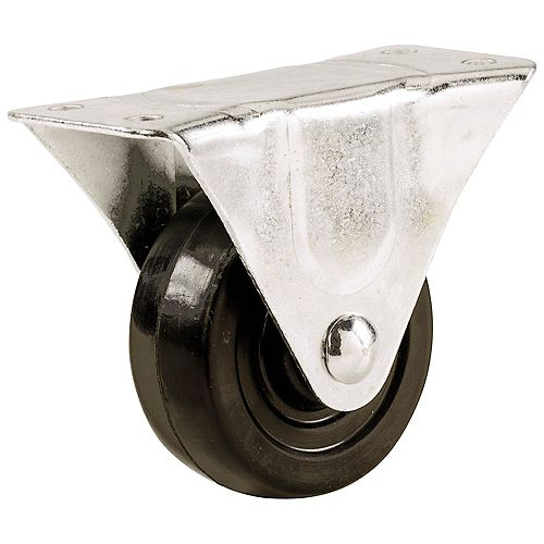2-1/2-inch Soft Rubber Rigid Caster with 100 lb. Load Rating