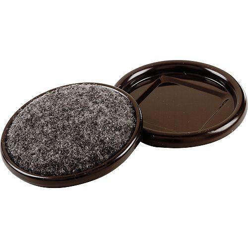 Everbilt Coupelles de meubles en métal avec base de tapis de 64 mm (4 par paquet)