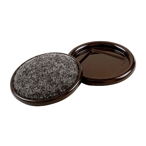 Everbilt Coupelles de meubles en métal de 32 mm avec base de tapis (4 par paquet)