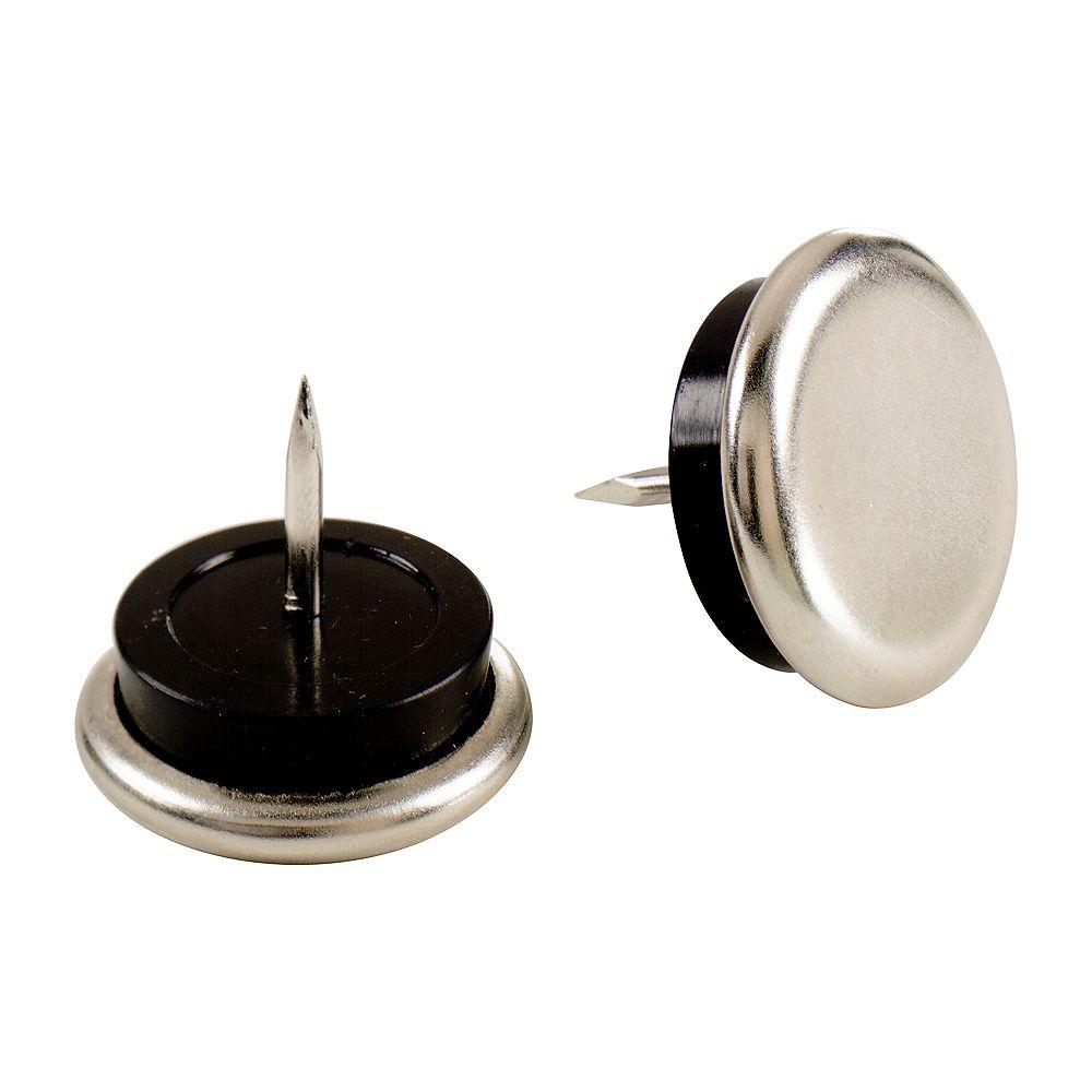 Everbilt Patins de coussin de 22 mm avec base en nickel (4 par paquet)