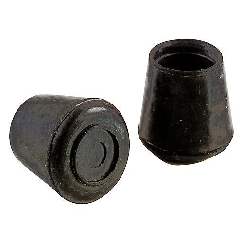 3/4 inch Black Rubber Leg Tips (4-Pack)