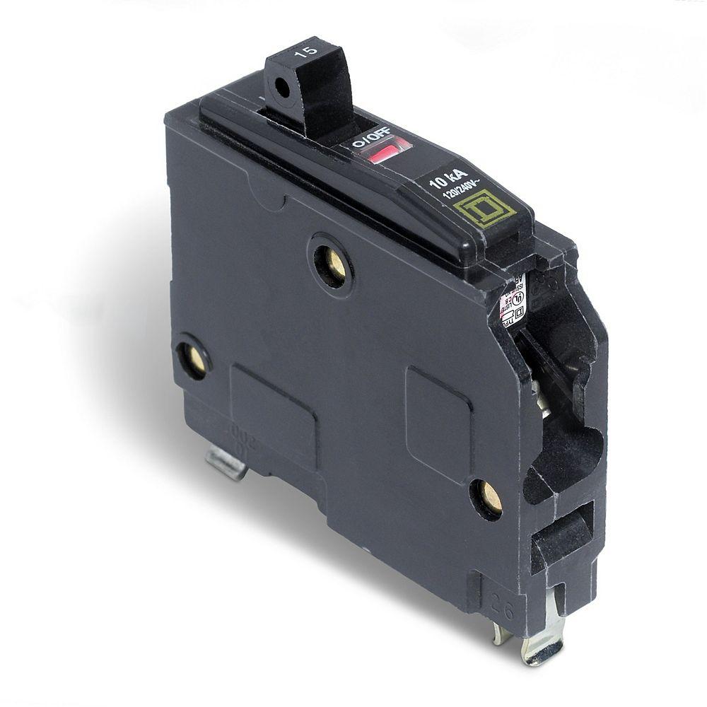 Schneider Electric - Square D Disjoncteur enfichable QO de 15A unipolaire