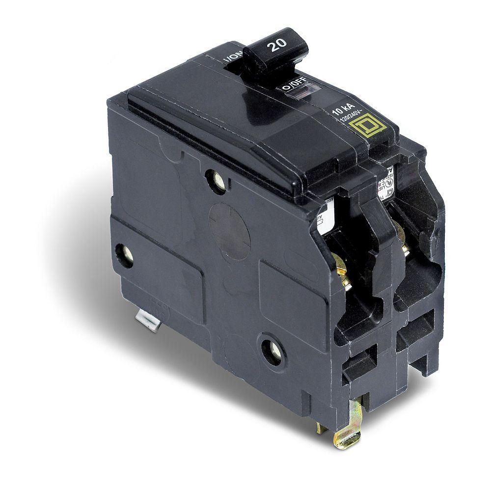Schneider Electric - Square D Disjoncteur enfichable QO de 20A bipolaire