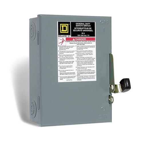30 Amp General Purpose Safety Switch - Plug Fuse
