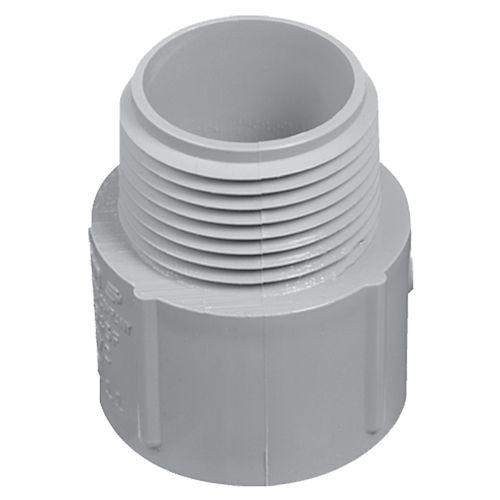 Schedule 40 PVC Male Terminal Adapter  3/4 Inch