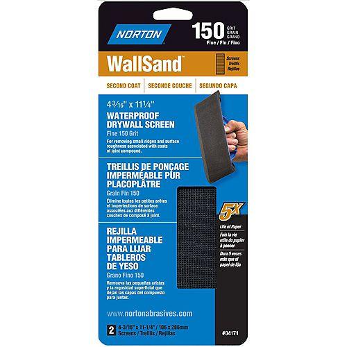Treillis de ponçage  pour cloison sècheWallSand 4-3/16 pix11-1/4 pi Grain  fin-150 Emb. 2
