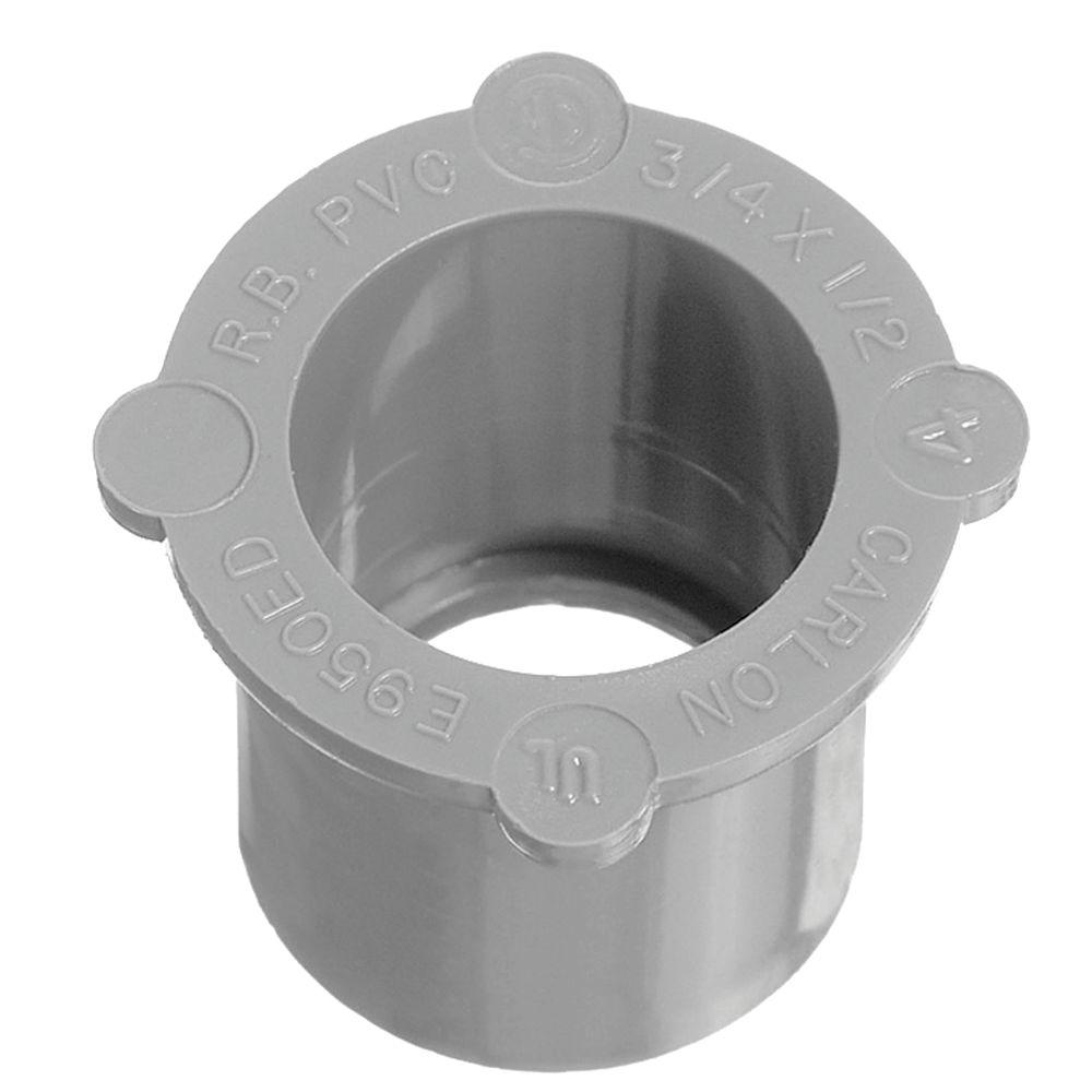 Thomas & Betts Manchon Réducteur En PVC Schedule 40 – 3/4 Pouce À 1/2 Pouce