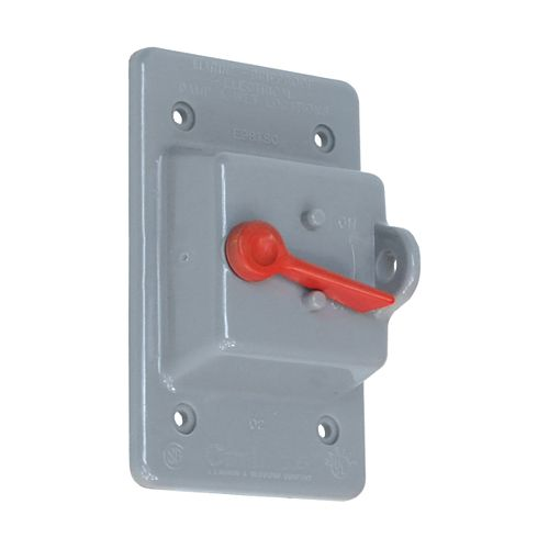 Weatherproof Single Gang PVC Toggle Switch PVC Cover  Grey