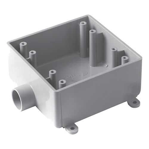 Outdoor Weatherproof FSE Double Gang PVC Device Box  1/2 In