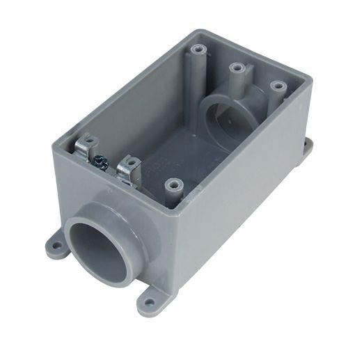 Outdoor Weatherproof  PVC Single Gang FSC Device Box  1/2 In