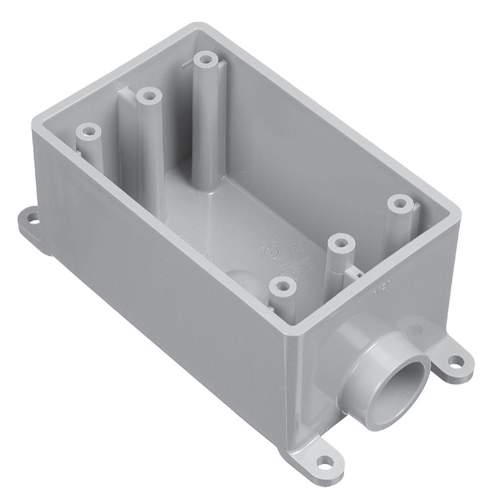 Carlon Outdoor Weatherproof FSE Single Gang PVC Device Box  1/2 In