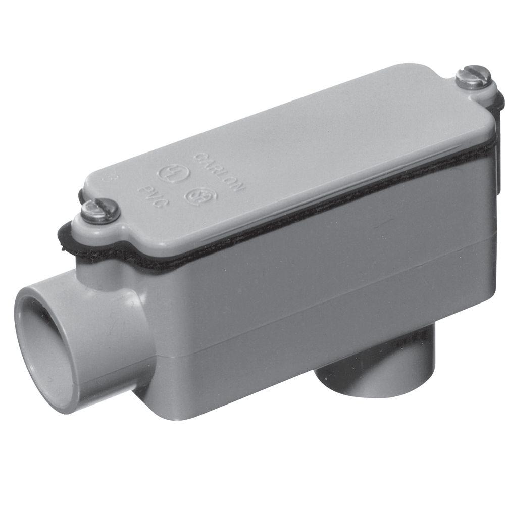 Carlon Raccord De Dérivation En PVC Schedule 40 De Type LB – 1-1/4 Pouces