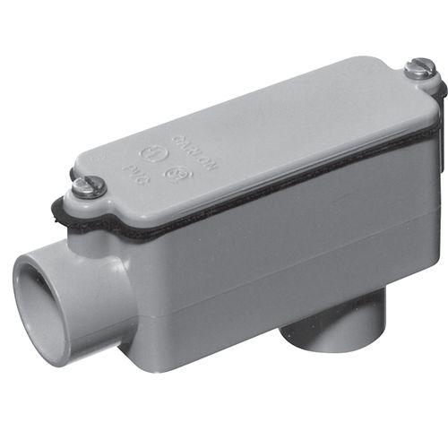 Schedule 40 PVC LB Shaped Conduit Body  1-1/4  In