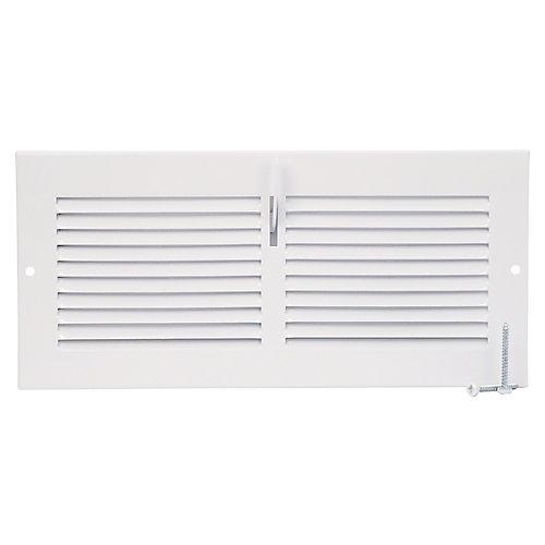 10 inch x 4 inch Sidewall Register - White