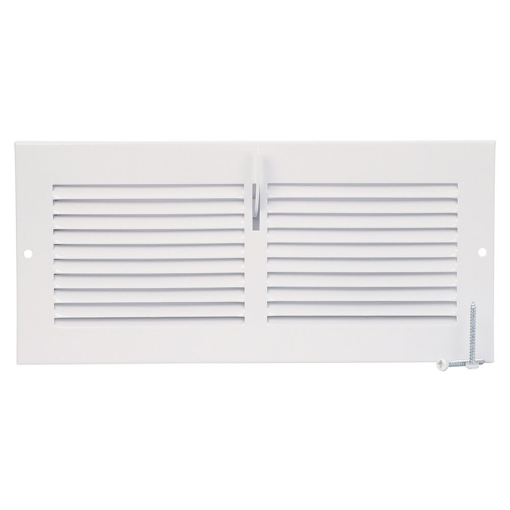 HDX 10 inch x 4 inch Sidewall Register - White
