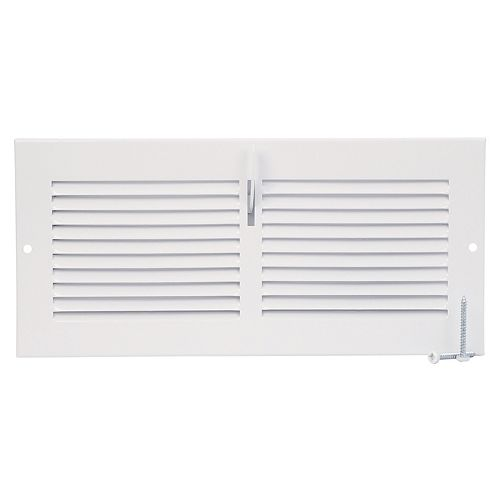 10 inch x 4 inch Sidewall Register - White