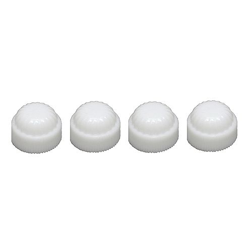 Capuchons En plastique Blancs - 4pcs / Paquet