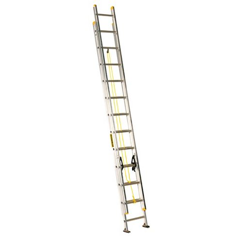 Featherlite aluminum extension ladder 24 Feet  grade I