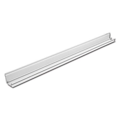 48-inch Sliding Closet Door Top Track in White