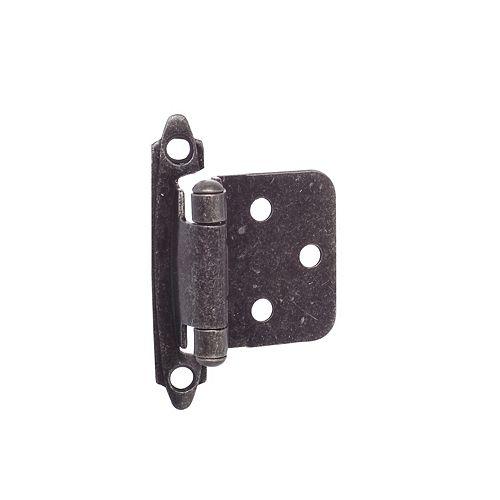 Semi-Concealed Self Closing Hinge - Wrought Iron