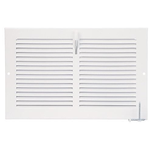 10 inch x 6 inch Sidewall Register - White