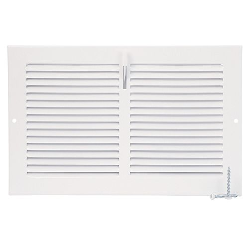 10 inch x 6 inch Sidewall Register - White