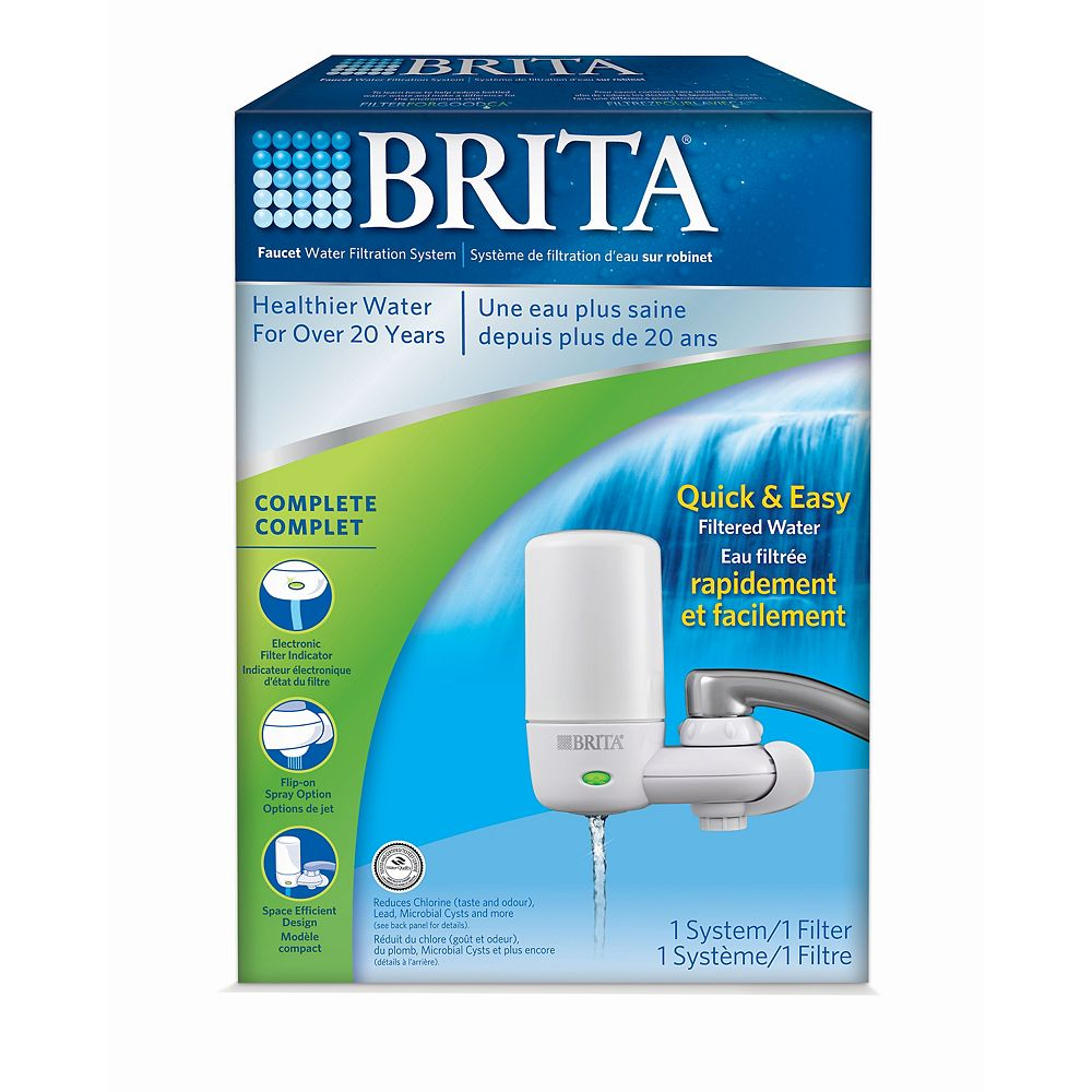 Brita Complete 378L On Tap Chlorine, Lead, and Microbe Water Filtration System