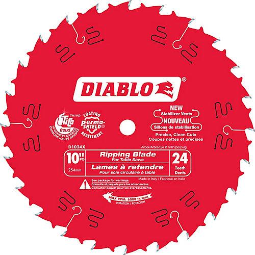 10 In. Diablo Ripping Blade - 24 Teeth