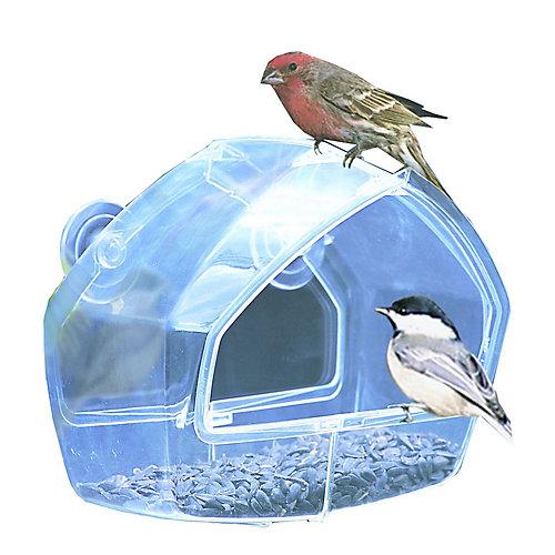 Mangeoire de fenêtre transparente pour oiseaux Birdscapes