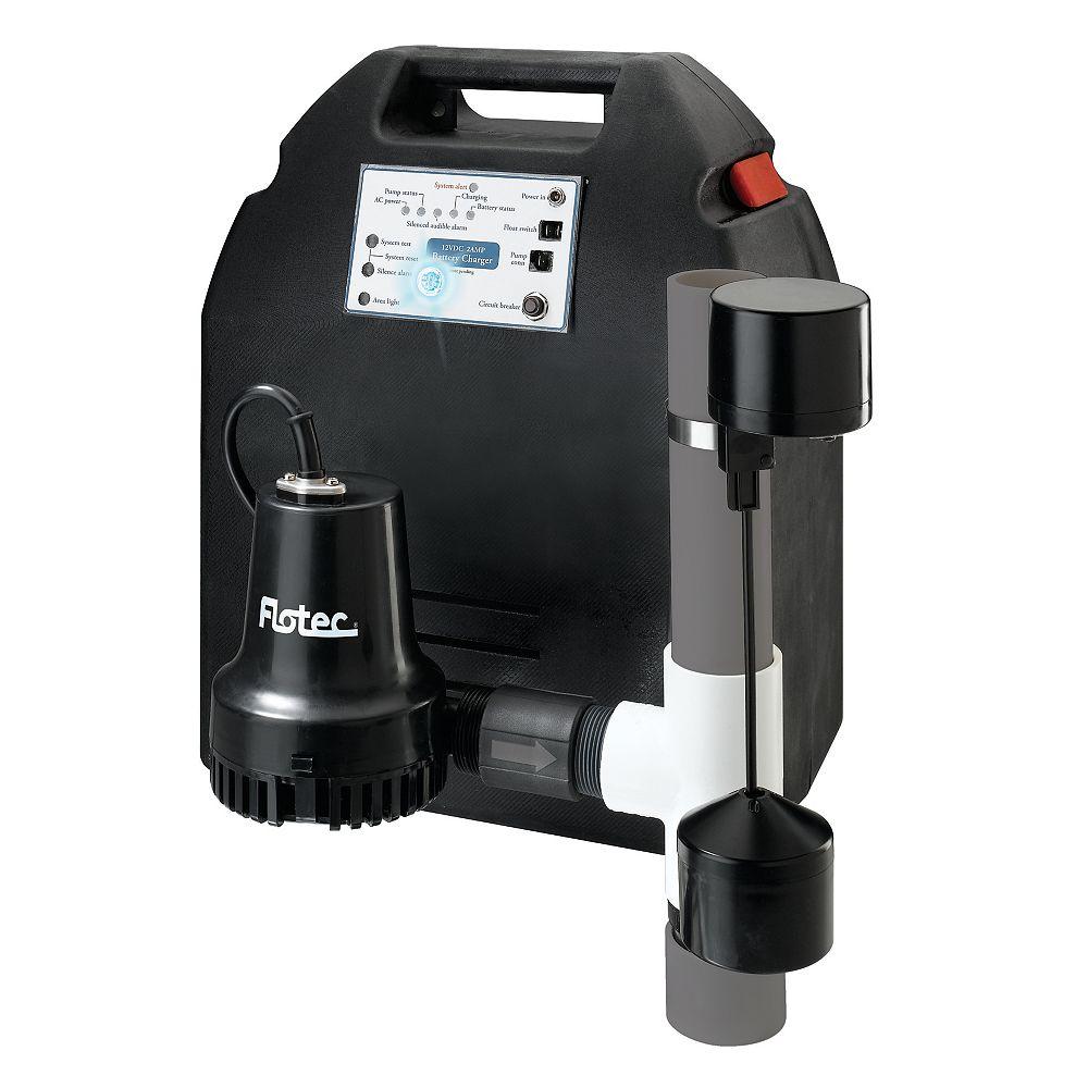 Flotec 7/8 HP Backup Sump Pump System