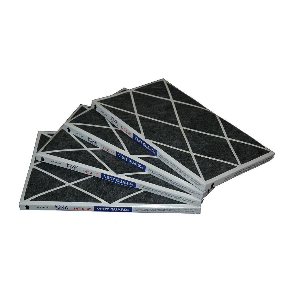 Vent Guard Filtres de rechange pour système de filtration d'air de retour 14 po x 8 po