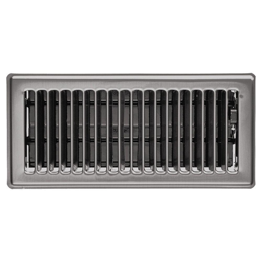 HDX 4 inch x 10 inch Floor Register - Brushed Steel