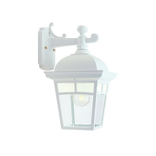Imagine, Downlight Wall Mount, Frosted Pattern Glass Panels, White