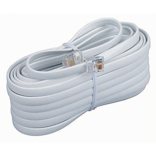 6 Conductor 7.6m Mod.Line Cord White