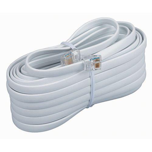 Cordon Mod. 7,6 M 6 Conducteurs Blanc