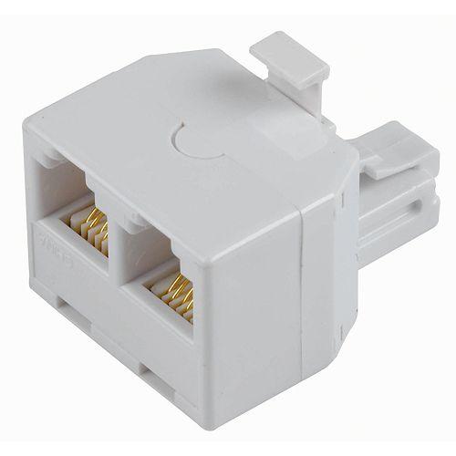 Adaptateur Mod. 2 En 1 6 Conducteurs Blanc