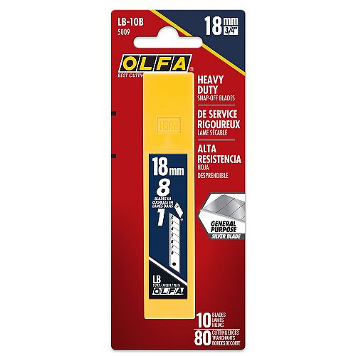 Olfa 18mm Snap-Off Replacement Blades, 10 pack
