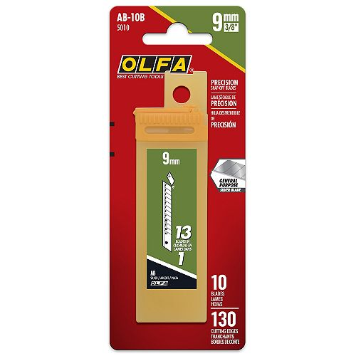 9mm Snap-Off Replacement Blades, 10 pack