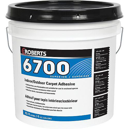 6700, 15L Indoor/Outdoor Carpet Adhesive and Glue