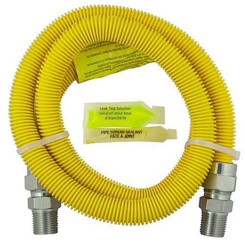 Flex-Connect 1/2 Inch Outside Diameter x 48 Inch Length:1/2 Inch Male Iron Pipe x 3/8 Inch Female Iron Pipe