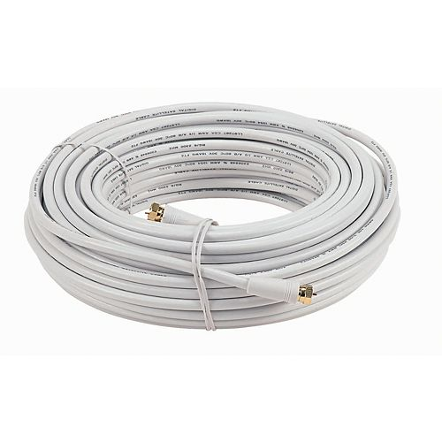 15.2m RG 6 Coax Cable With Ends-White