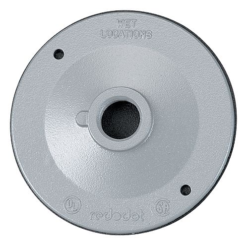1 Hole Outdoor Round Cover, White