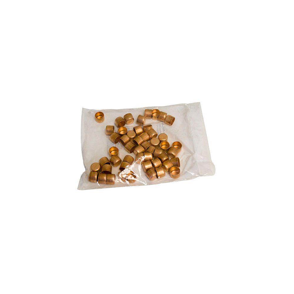 Aqua-Dynamic Fitting Copper Test Cap 1/2 Inch (Bag Of 25)