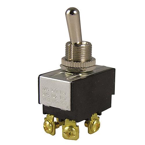 Toggle DPST 20A 125VAC O/F; 1/Cd