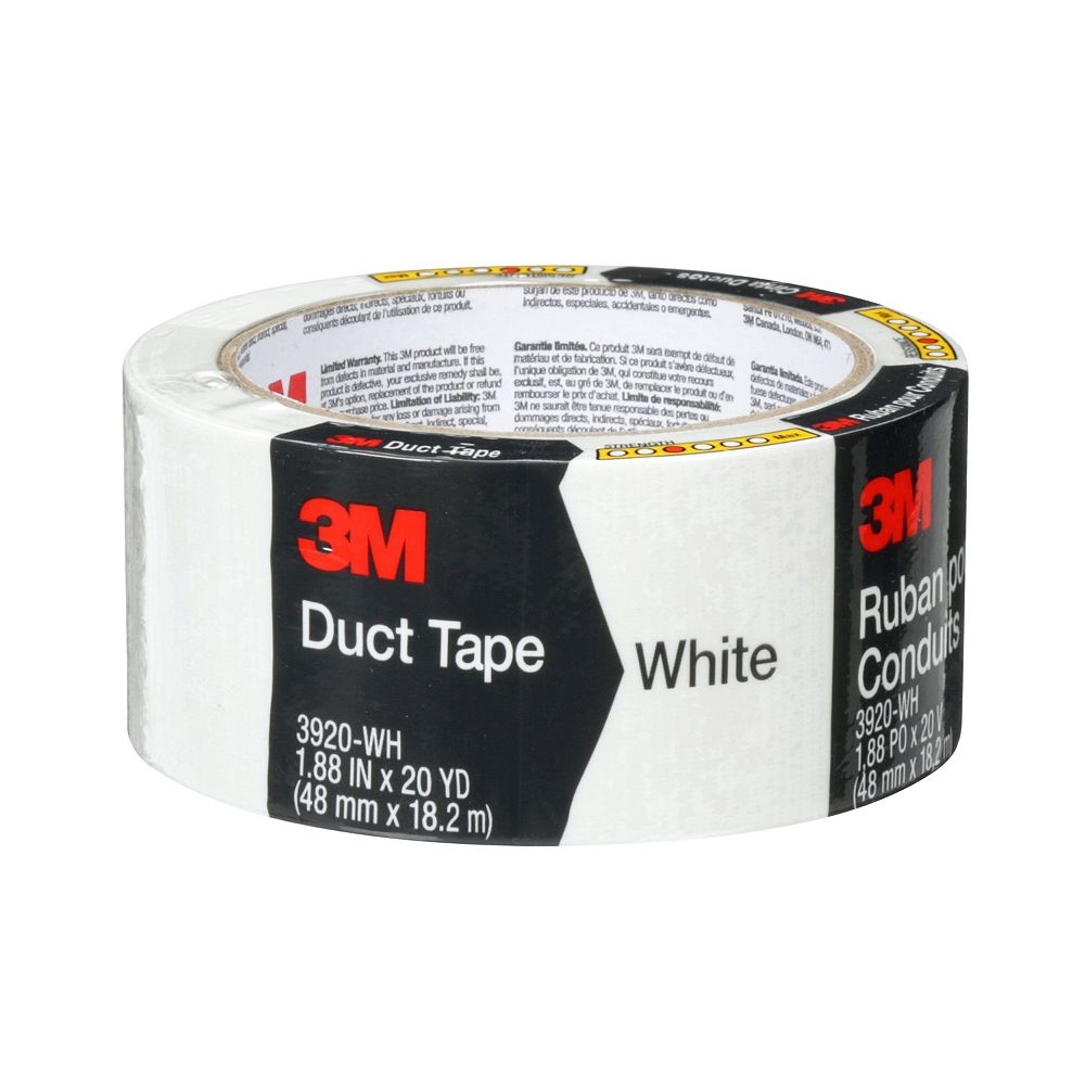 Scotch Multi-Purpose Duct Tape 3920-WH, White, 1.88 in x 20 yd (48 mm x 18.2 m)
