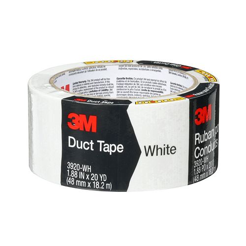 Multi-Purpose Duct Tape 3920-WH, White, 1.88 in x 20 yd (48 mm x 18.2 m)