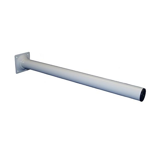 Metal Leg White 1-3/16 In. x 1-3/16 In. x 16 In.
